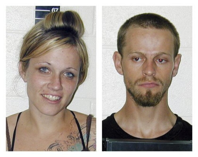 Two images provided by the San Pete County Sheriff shows Angela Atwood, 25, left, and Logan Welles McFarland, 24. The two were arrested in Nevada on Tuesday Jan. 3, 2012 in the killing of an elderly Utah couple and the shooting of a woman outside a Nevada casino. (AP Photo/San Pete Sheriff)