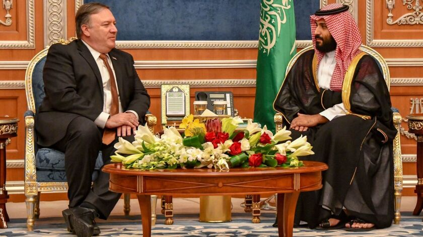 US Secretary of State Pompeo in Saudi Arabia, Riyadh - 15 Oct 2018