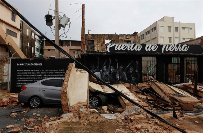 Fotografía de archivo de los daños causados por el huracán María a su paso por San Juan (Puerto Rico). EFE/Archivo