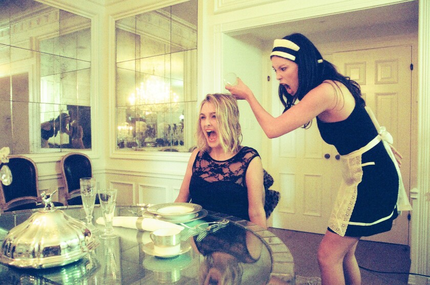 """Nathalie Love and Allison Byrnes in a scene from """"Me."""""""