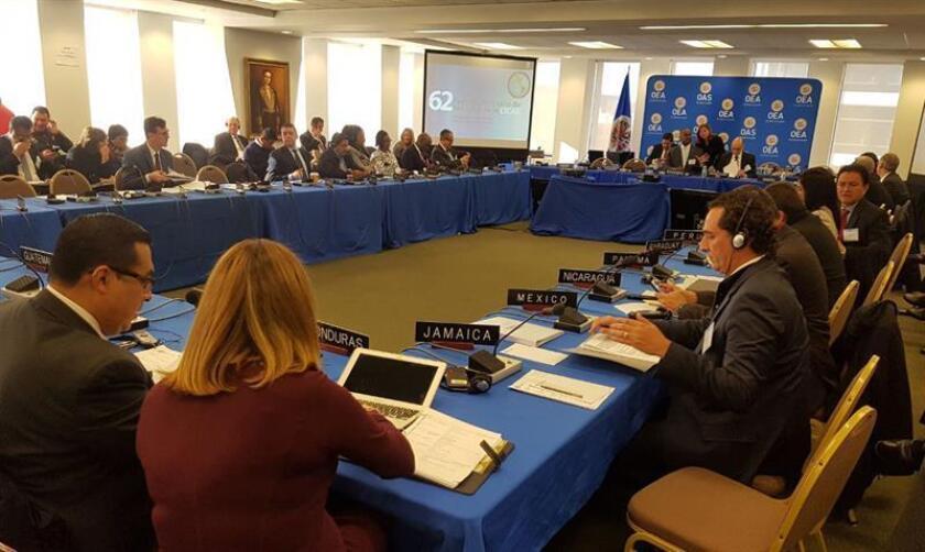Fotografía cedida de la reunión de la Comisión Interamericana para el Control del Abuso de Drogas en Ciudad de México hoy, jueves 13 de diciembre de 2017 en la capital mexicana. EFE/PGR/ SOLO USO EDITORIAL / NO VENTAS