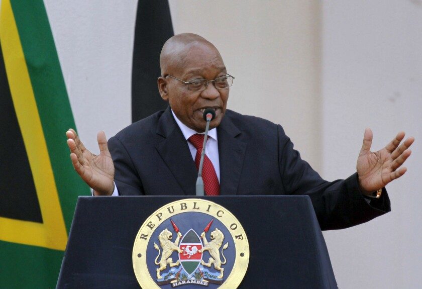 South African President Jacob Zuma has faced growing calls to step down.