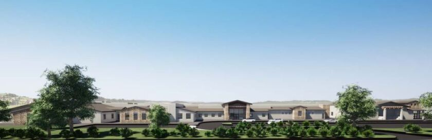 A rendering of the new Solana Vista School.