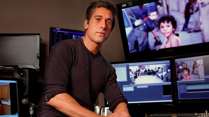 "GARMSAR, IRAN--AUGUST 2016--David Muir is the anchor of ""World News Tonight,"" where he took over"
