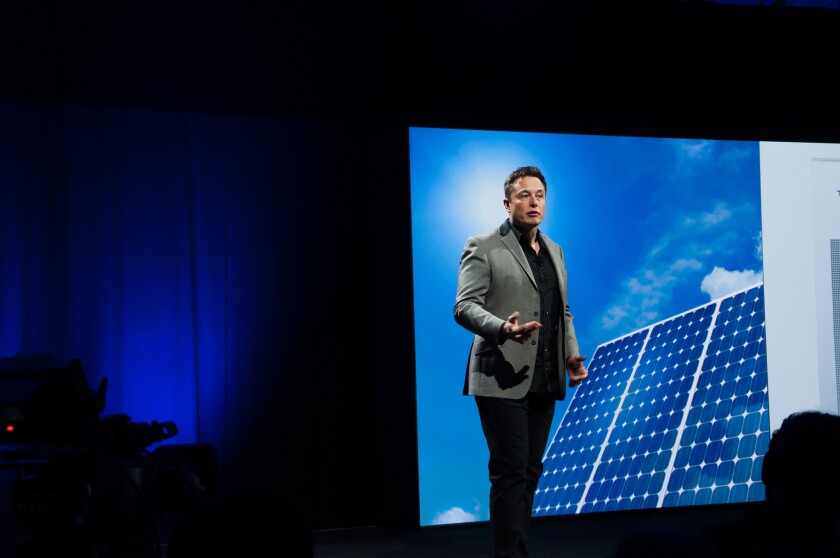 Elon Musk is Tesla's chief executive and SolarCity's chairman.