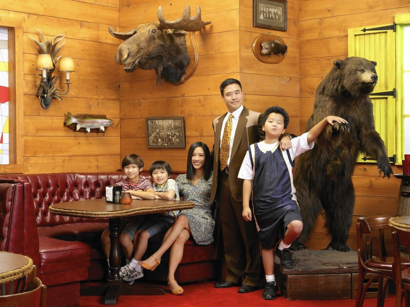 "ABC's comedy ""Fresh Off the Boat"" offers some nuanced performances from a cast including Forrest Wheeler, left, Ian Chen, Constance Wu, Randall Park and Hudson Yang."