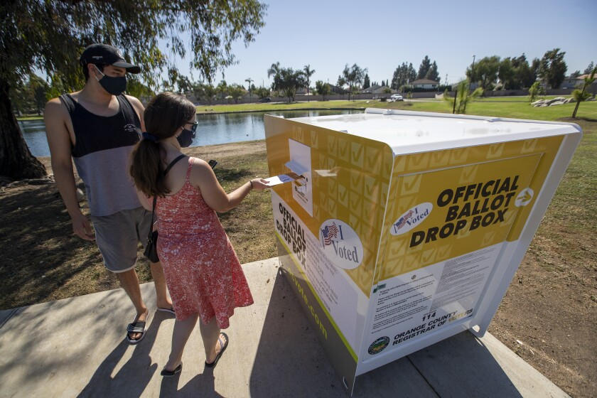 Ballot-drop boxes