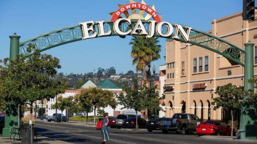El Cajon's neighborhood sign.