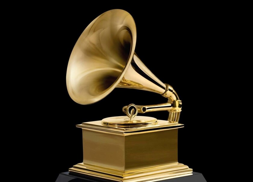 Una estatuilla del Grammy.