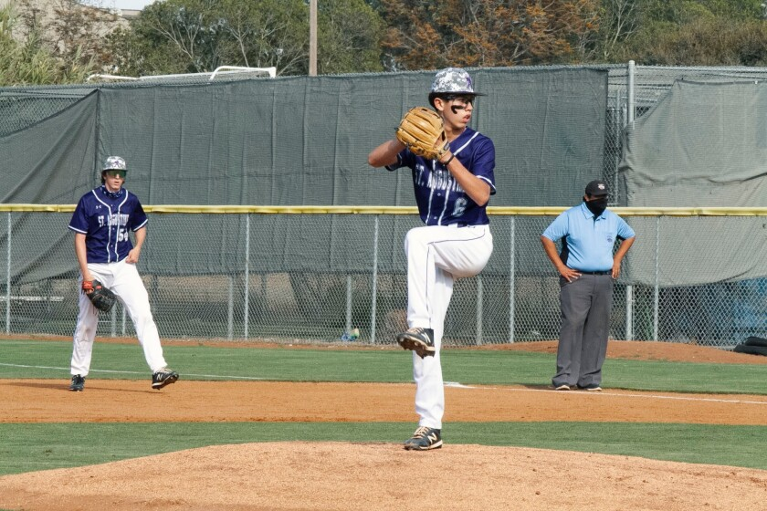 Chaz McRoberts will be on the mound Wednesday as top-seeded St. Augustine begins the D-II playoffs.