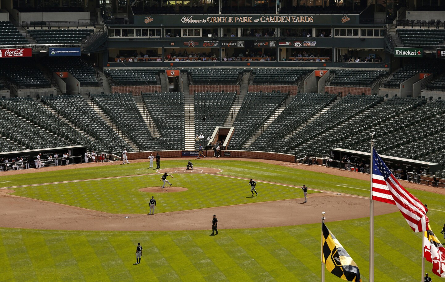 'Ghost game' at Camden Yards