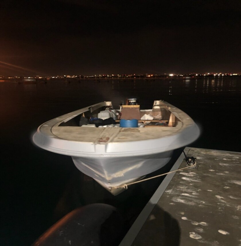 Panga boat seized after suspected smuggling foiled in Del Mar