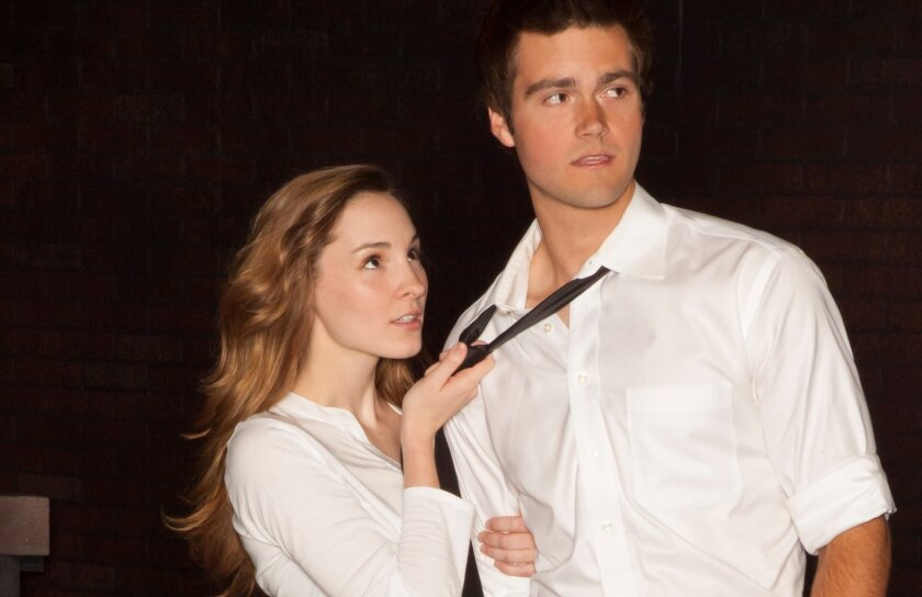 "Katie Sapper as Ivy and Charlie Gange as Jason in ""Bare: a Pop Opera."""