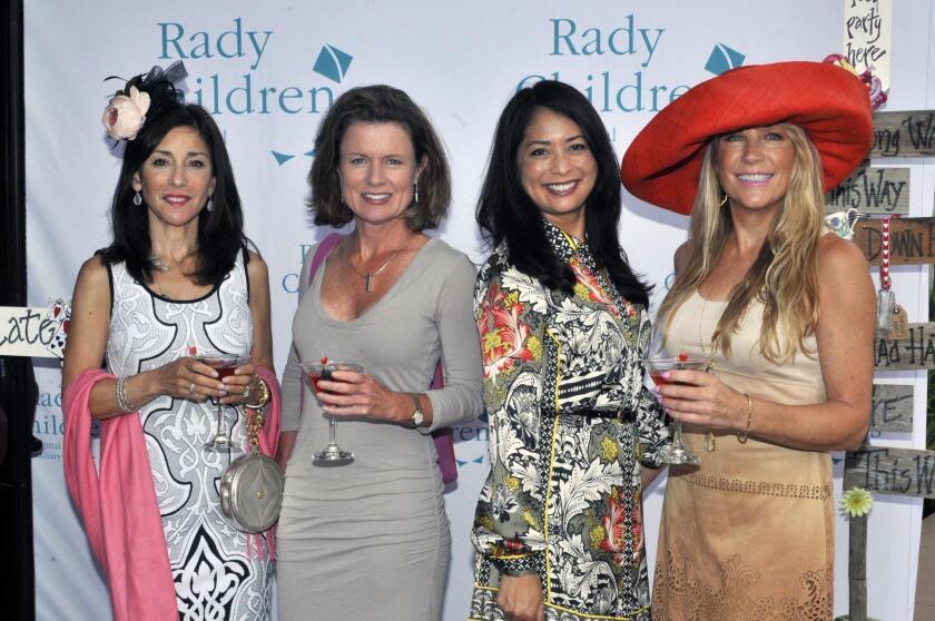 Judy Rowles, Terri-Ann Skelly, Daisy Buclatin, Del Mar Auxiliary Unit Chair Susan Darnall
