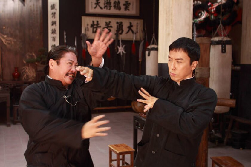 """Sammo Hung, left, and Donnie Yen in """"Ip Man 2: Legend of the Grandmaster."""""""