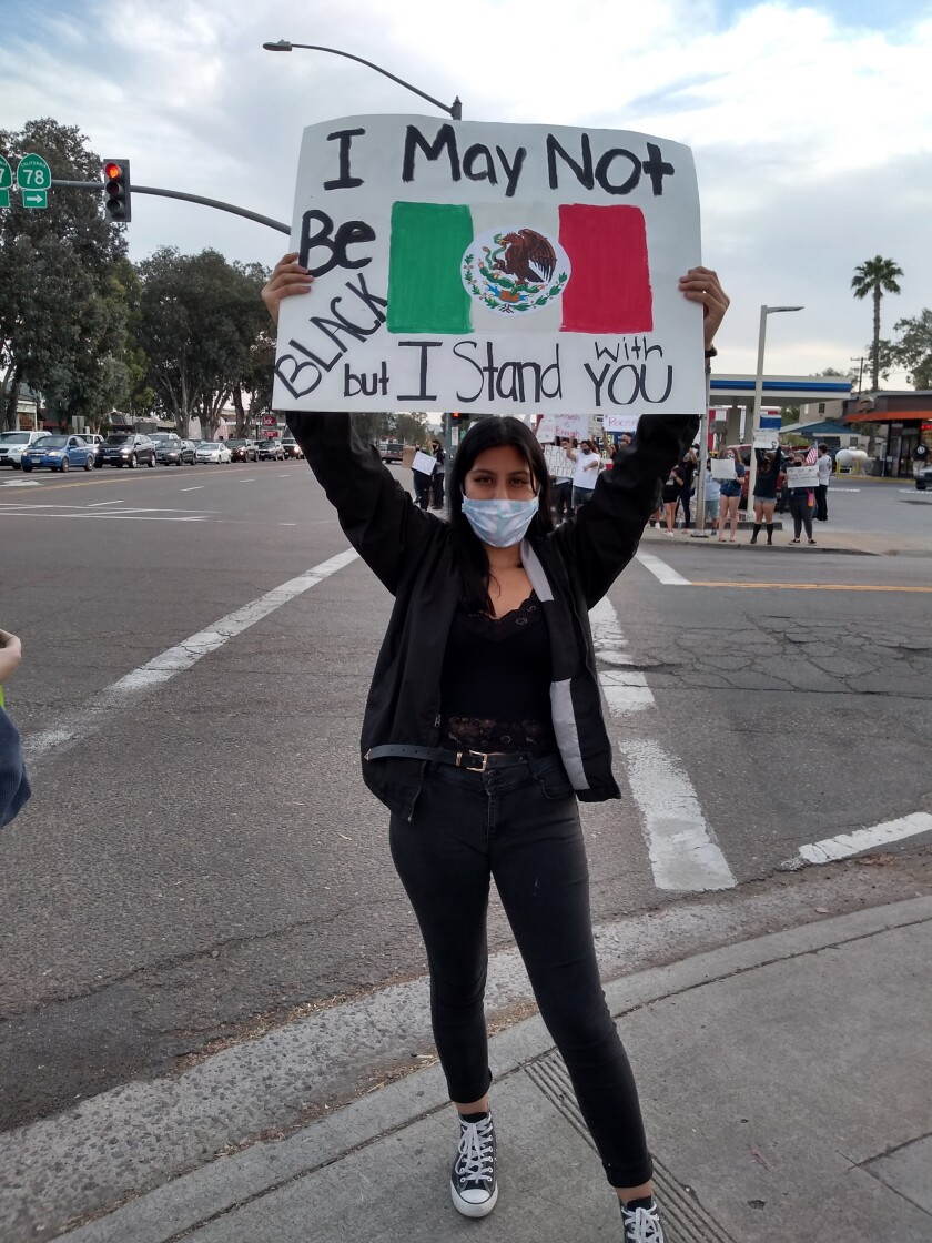 Ramona resident Valerie Bello said she wants to take a stand against racism.