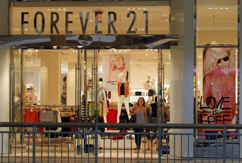 The Forever 21 in Westfield North County expanded in 2010 and now takes up 50,000 square feet on two levels.