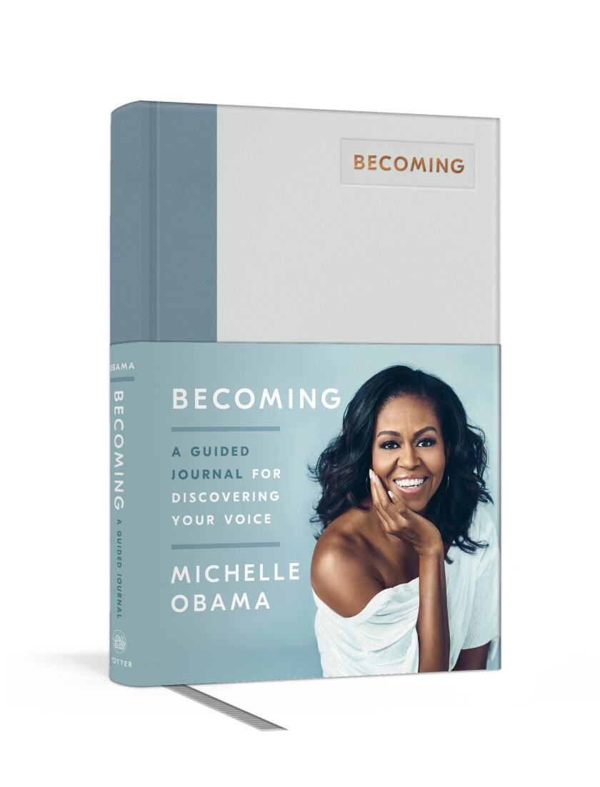 """""""Becoming: A Guided Journal for Discovering Your Voice"""" is a companion to Michelle Obama's bestselling memoir."""