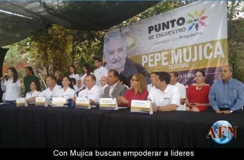 Con Mujica buscan empoderar a lideres