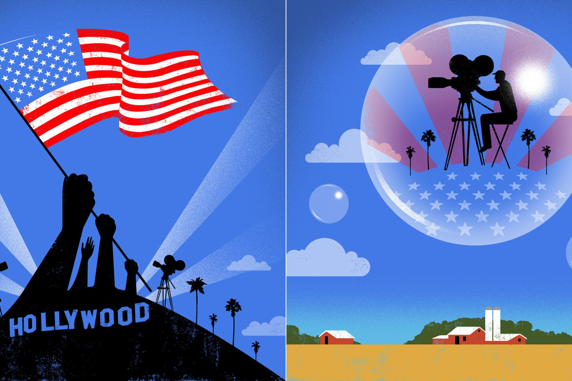 Illo for Hollywood Values package