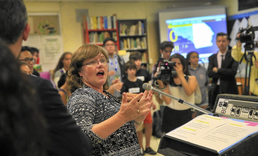 First public test of earthquake alert system rolls out at L.A. school