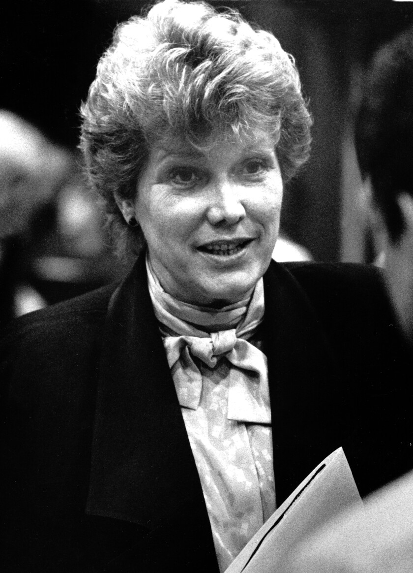 Los Angeles City Councilwoman Joan Milke Flores in 1987.