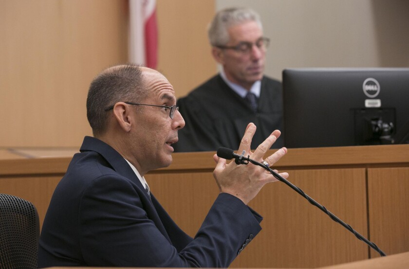 Dr. Steven Campman testifying in court