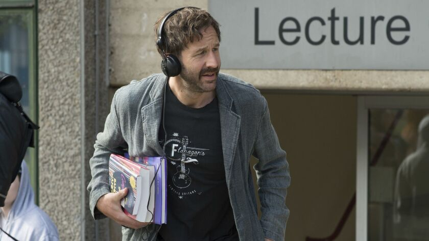 """This image released by Lionsgate and Roadside Attractions shows Chris O'Dowd in a scene from """"Juliet"""