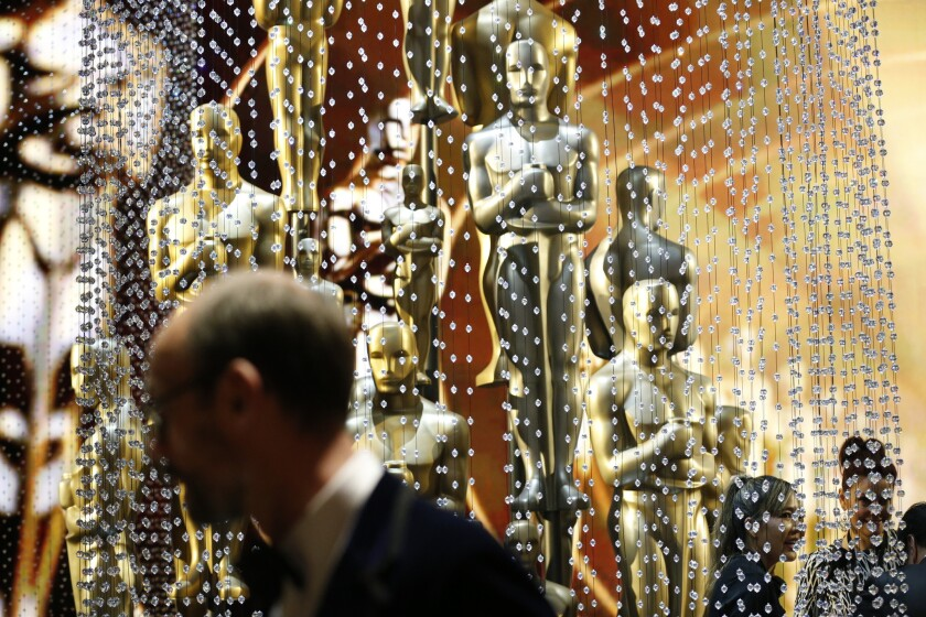 Oscars aglow following the ceremonies at the 88th Academy Awards.