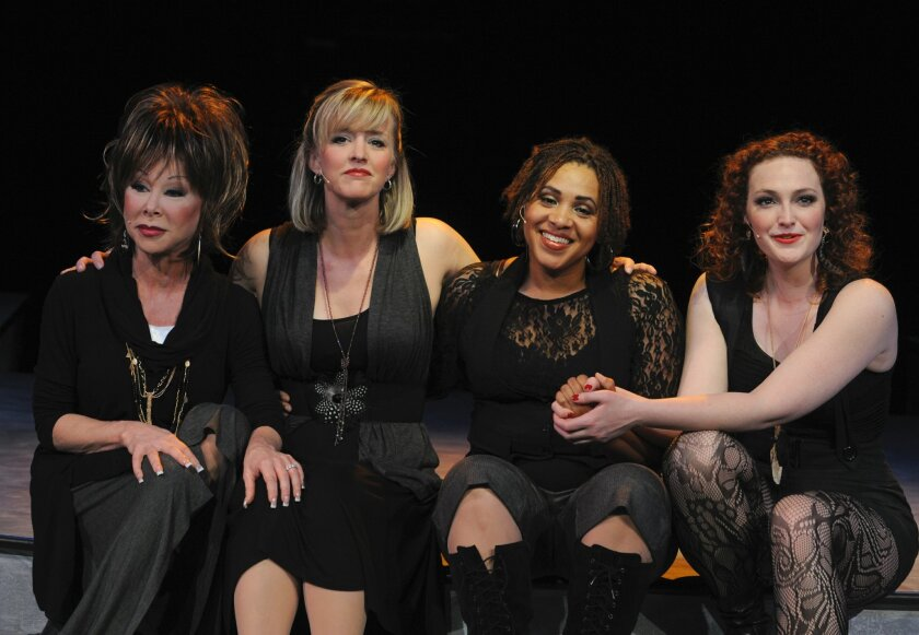 """Leigh Scarritt , Nancy Snow Carr, Lisa H. Payton and Kelsey Venter (left to right) in """"Respect: A Musical Journey of Women."""""""