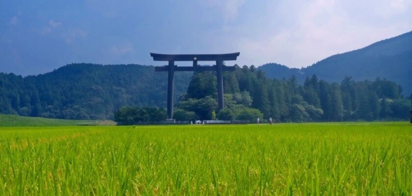 The entrance to one of the sacred sites along the Kumano Kodo Pilgrimage route.