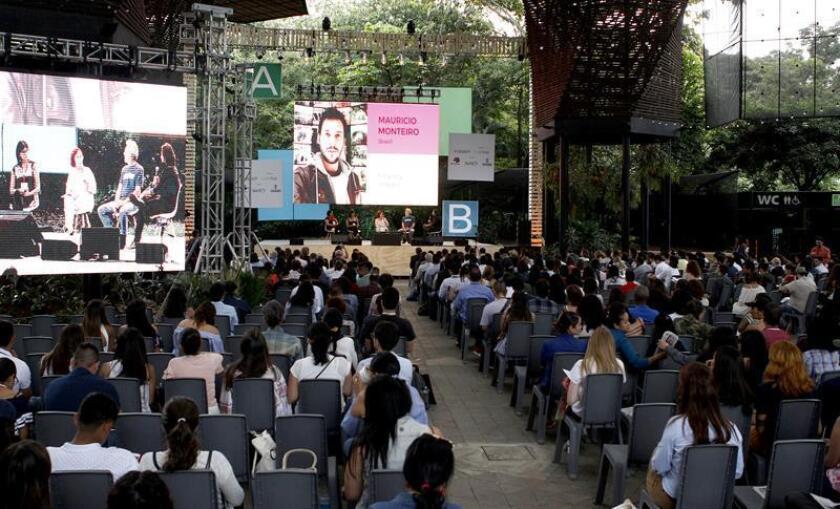 Imagen de archivo de la inauguración del Premio y Festival Gabriel García Márquez de periodismo, el 28 de septiembre de 2017, en Medellín (Colombia). EFE/Archivo