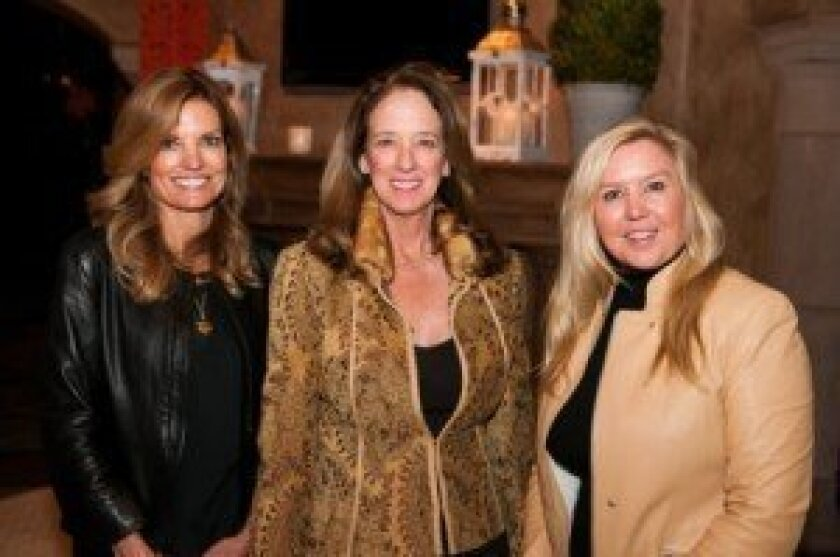 Bishop's Auction co-chairs Margot Kerr, Alice Hayes and Dawn Calvetti. Courtesy