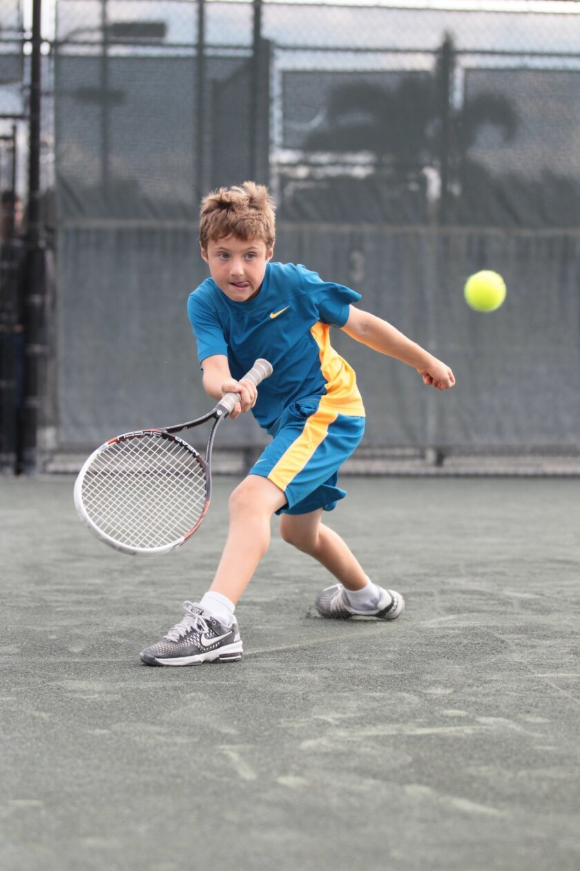 Rancho Santa Fe's Andrew Salu recently won the Little Mo Grand Slam as the top nine-year-old tennis player in the country.
