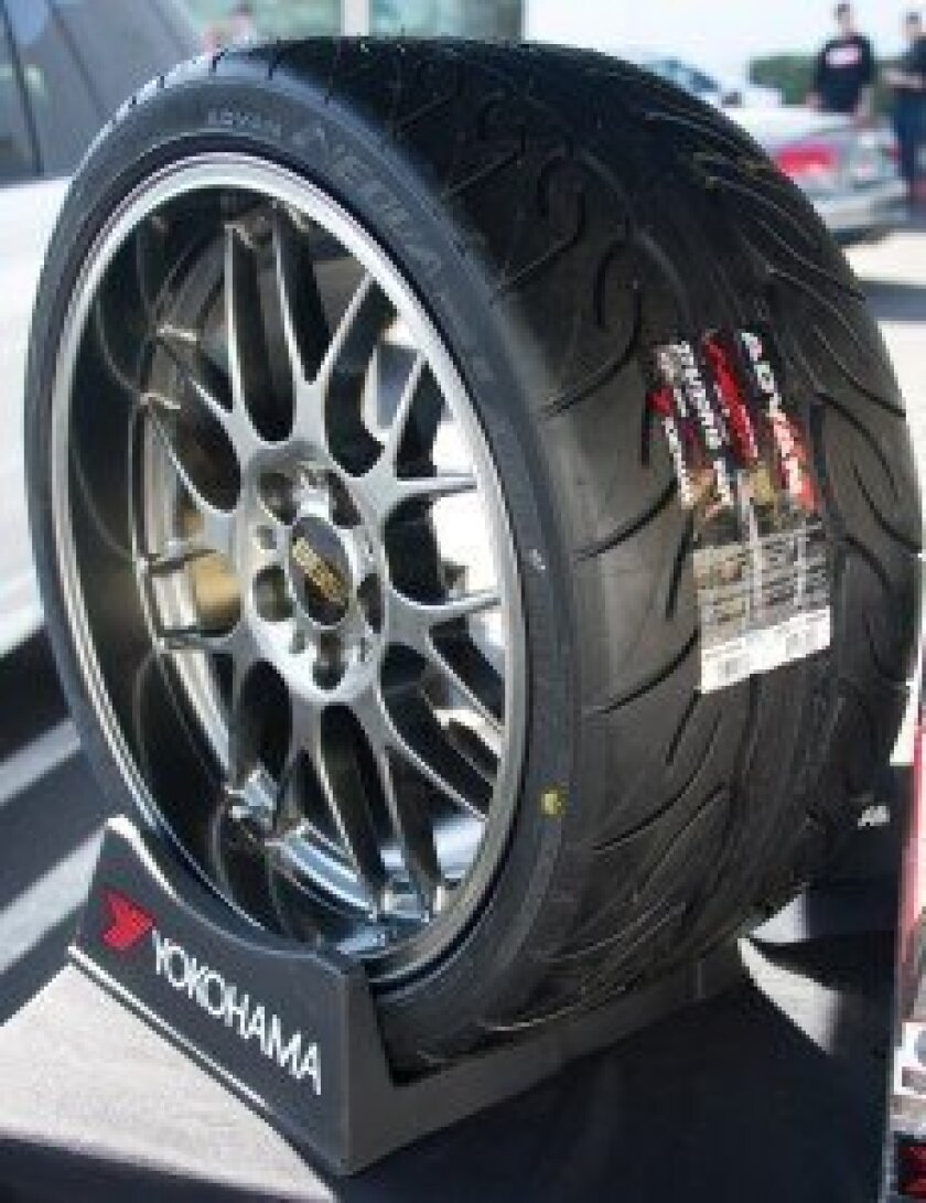 Yokohama tire display at Grand Opening of TAG Motorsports