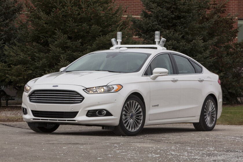 Ford will use a modified Fusion Hybrid to test emerging autonomous driving technologies on California roads starting in 2016.