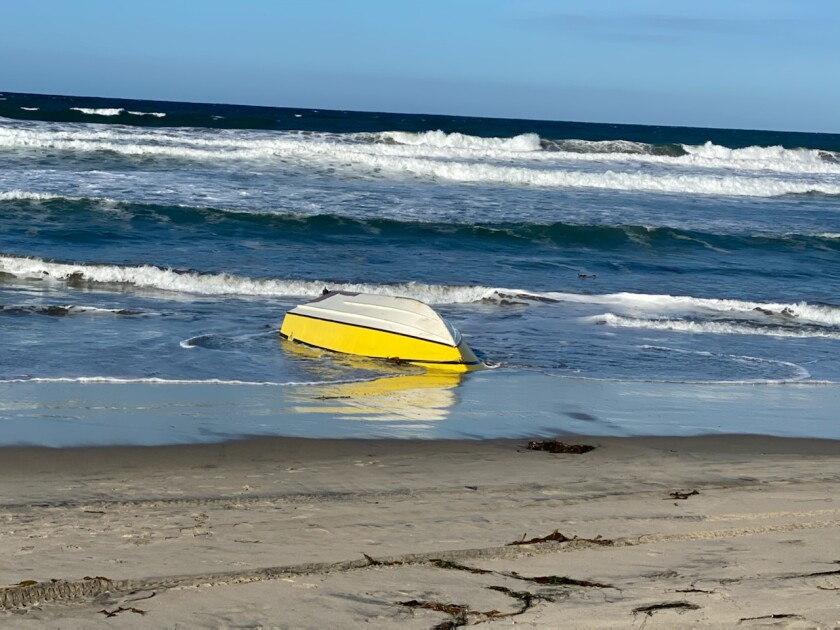 One person died and a second person was seriously injured after a suspected smuggling boat capsized off the coast of Imperial Beach early Monday.