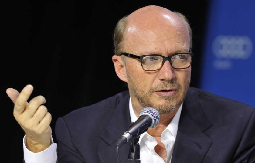 Canadian director Paul Haggis attend the press conference for 'Third Person' during the 38th annual Toronto Film Festival, in Toronto, Canada.