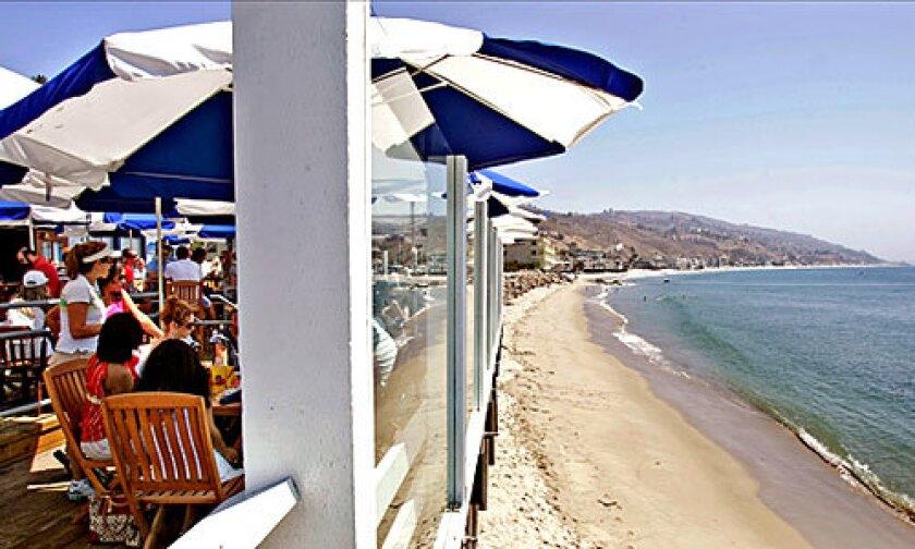 Saturday breakfast overlooking the beach at Beachcomber restaurant on the Malibu Pier.