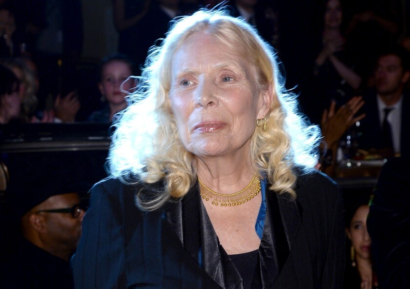 Joni Mitchell attends a gala in Beverly Hills in January 2014.