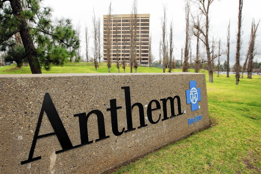 Six Anthem policyholders have sued California's largest for-profit health insurer, accusing the company of misrepresenting the size of its physician networks and the insurance benefits provided.