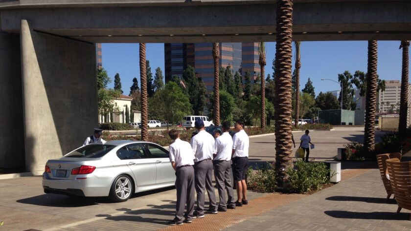 The new valet stop at Westfield UTC is located on the south side of La Jolla Village Drive, just eas