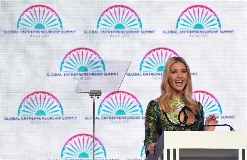 Ivanka Trump promociona en la India el papel de la mujer emprendedora