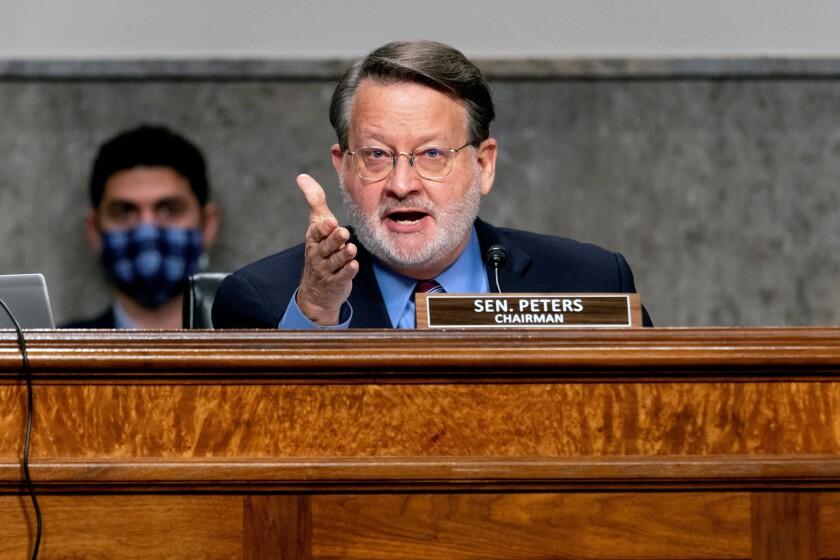 El senador demócrata Gary Peters, presidente del Comité de Seguridad Nacional del Senado.