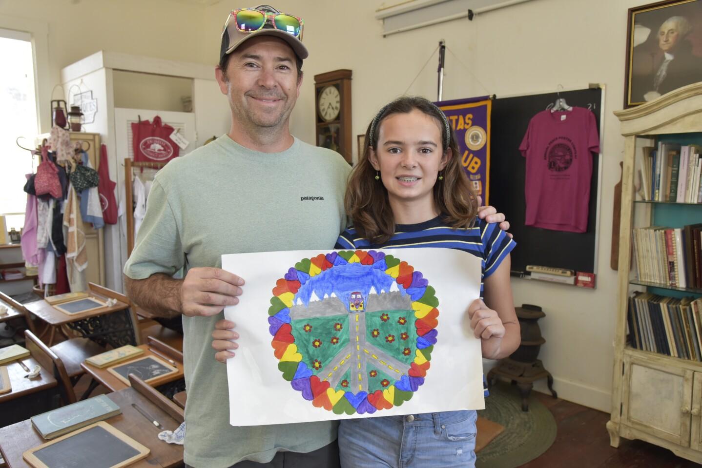 Jay McCarren with artist Bryn