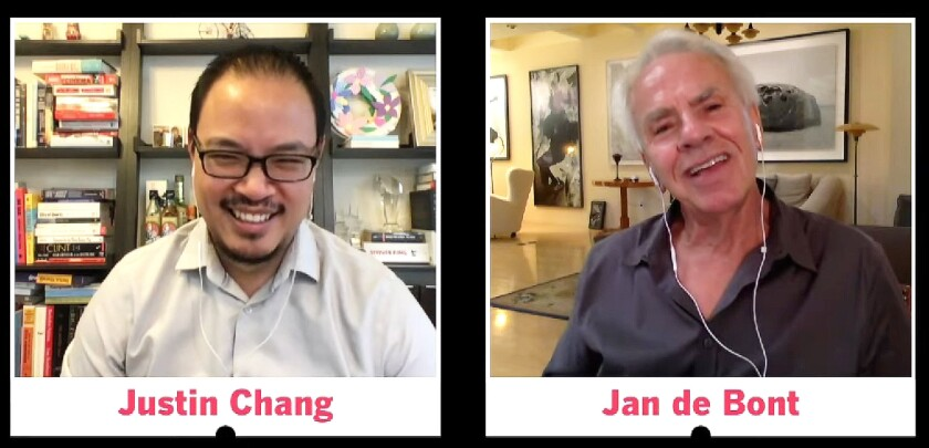 Los Angeles Times film critic Justin Chang and director/cinematorgrapher Jan de Boot