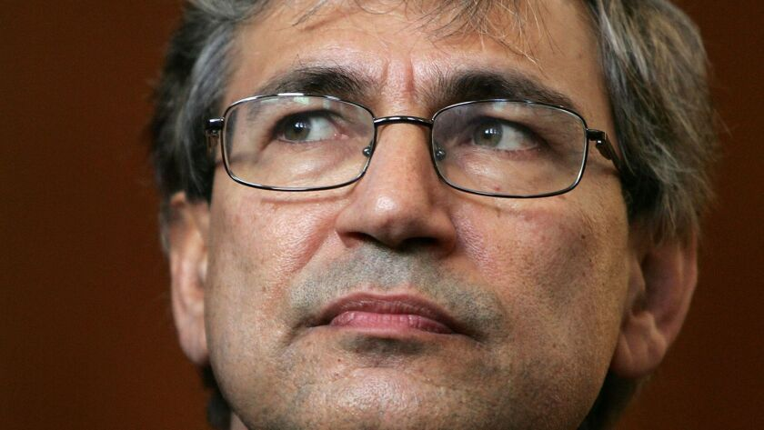 The author, Nobel laureate Orhan Pamuk, is shown in an Oct. 12, 2006, photograph taken at Columbia University in New York City.