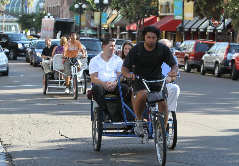 San Diego pedicab operators may soon have to prove they can drive a car before they can tote tourists around the Gaslamp Quarter. The Assembly on Tuesday passed legislation that would allow the City Council to require a driver's license as a condition of pedicab permits.