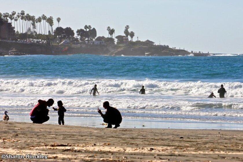 La Jolla Shores Beach on Christmas morning, Dec. 25, 2014. Photo by Sharon Hinckley