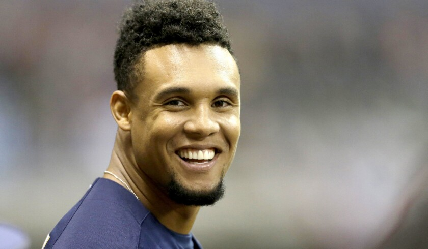 Brewers outfielder Carlos Gomez